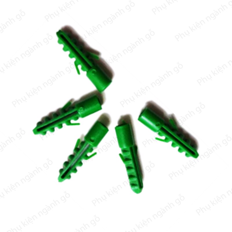 Tắc kê nhựa xanh M6x30mm TK630X3 (Con)