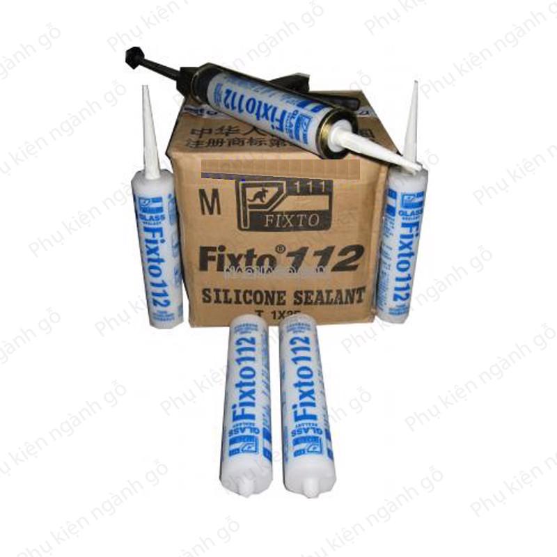 Keo dán kính hoặc gỗ silicon Fixto 112 KSF112 (210ml)