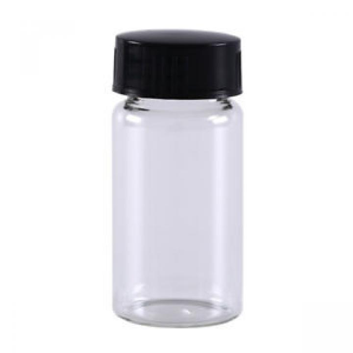 Chai VIAL trắng nắp vặn đen không chia vạch 10ml