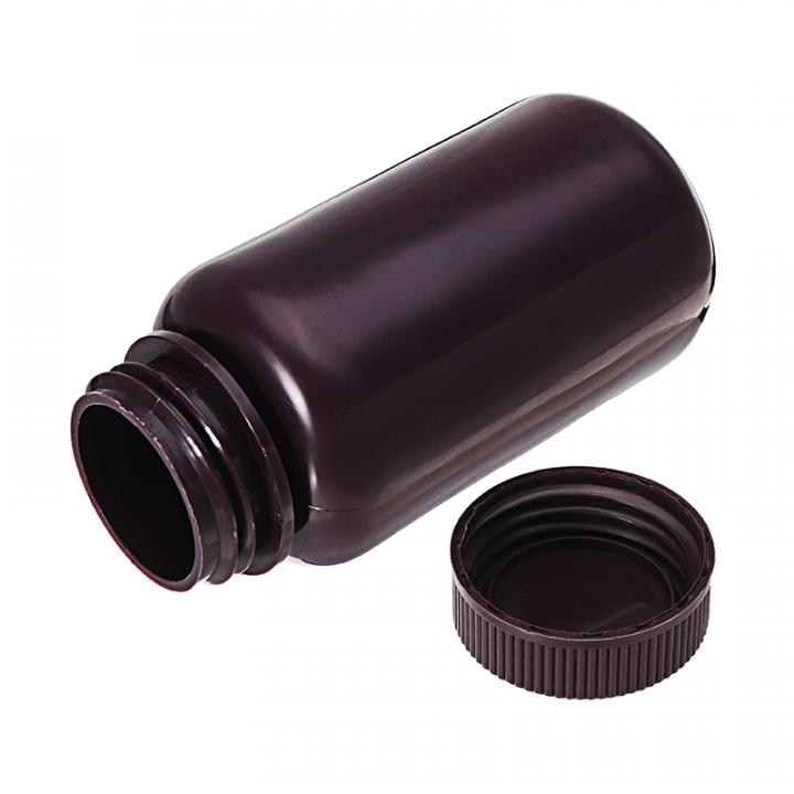 Chai nhựa nâu HDPE miệng rộng 250ml