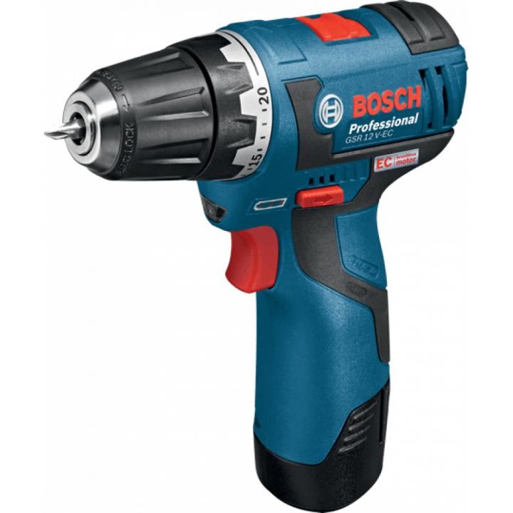 Máy khoan vặn vít dùng pin không chổi than Bosch GSR 12 V-EC