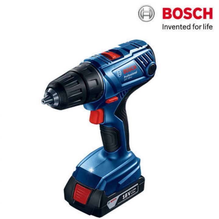 Máy khoan vặn vít dùng pin Bosch GSR 180-LI + Phụ kiện