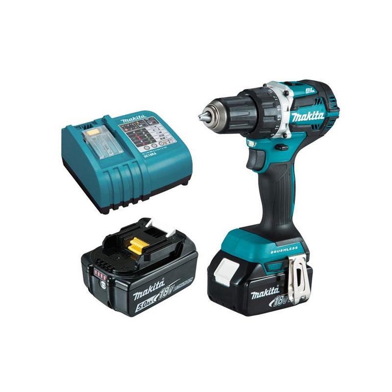 Máy khoan và vặn vít dùng pin 18V Makita DDF484RTE