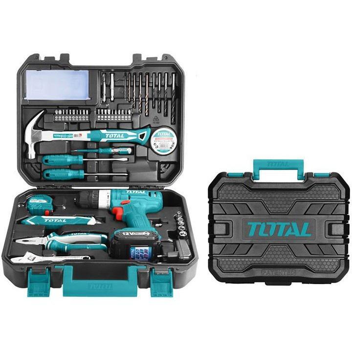 Bộ máy khoan dùng pin 12V Total THKTHP11272 (127 món)