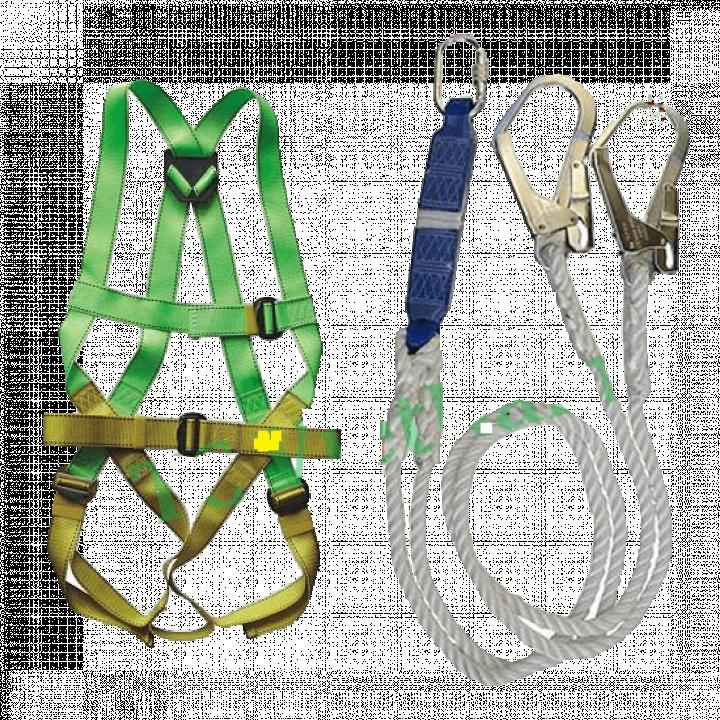 Dây an toàn toàn thân và dây treo giảm sóc 2 móc thép Adela H4501+EW32