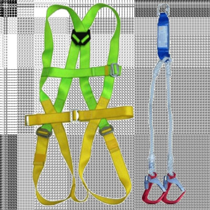 Dây an toàn toàn thân và dây treo giảm sóc 2 móc nhôm Adela H4501+EW71052