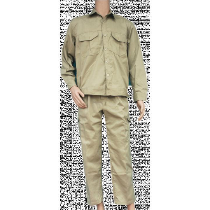 Quần áo bảo hộ cho kỹ sư in logo 1 màu QABH02KS