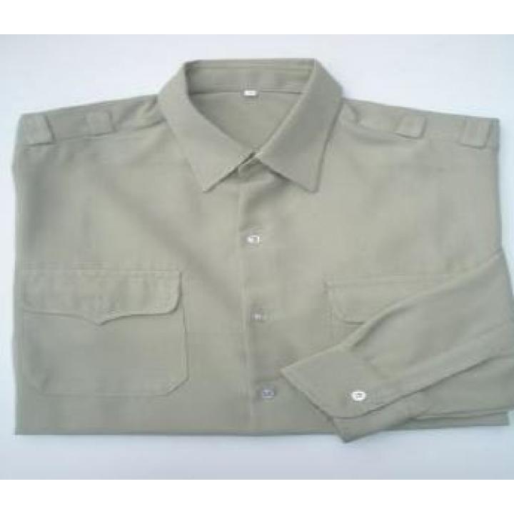 Quần áo bảo hộ cho công nhân vải si in logo 1 màu QABH01CN