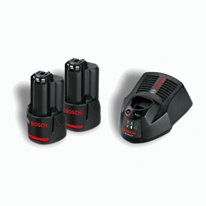 Bộ 2 pin + 1 sạc Bosch 10.8V - 1.5Ah