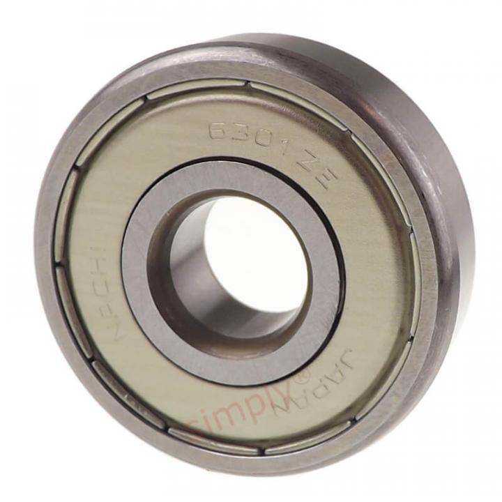 Vòng bi tròn có rãnh sâu nắp sắt Nachi 6301ZZECM
