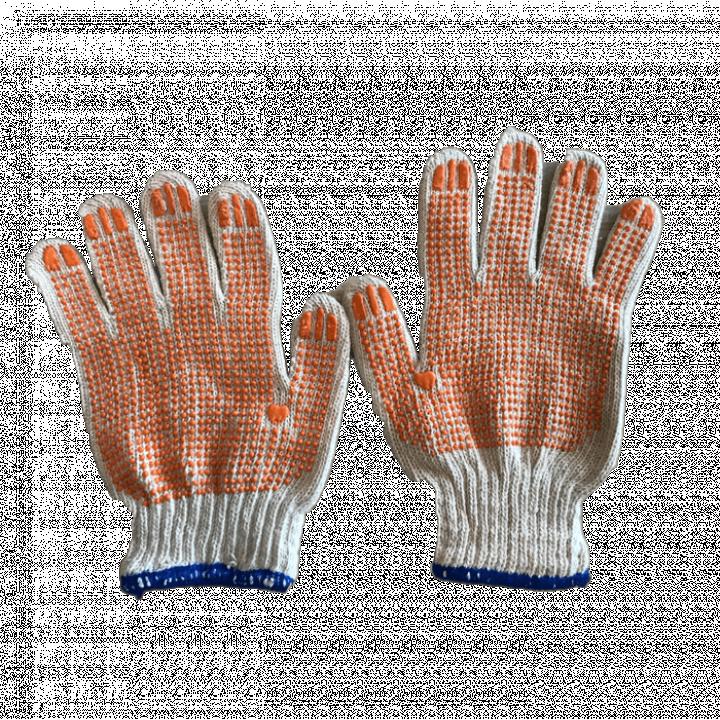 Bao tay len phủ hạt nhựa 1 mặt 70g/đôi