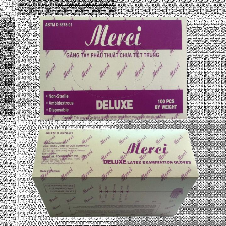 Găng tay y tế có bột VGLOVE/ MERCI 5.0g 24cm