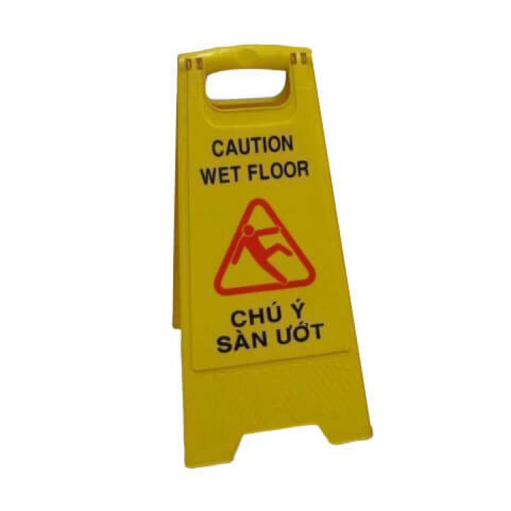 Biển báo sàn ướt Vietclean Anh - Việt F-3042