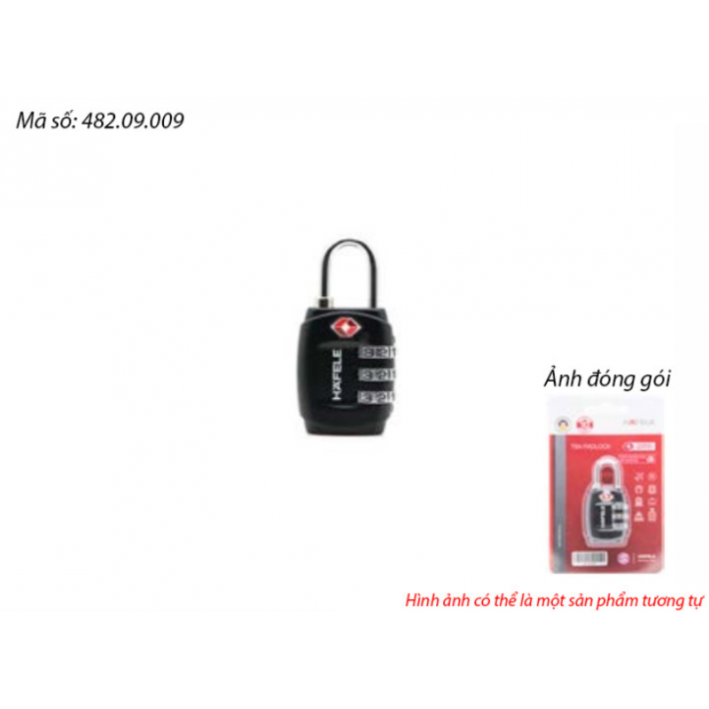 Ổ khoá số du lịch DIY Häfele 482.09.009