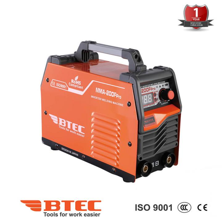 Máy hàn Inverter Btec MMA-200F Pro
