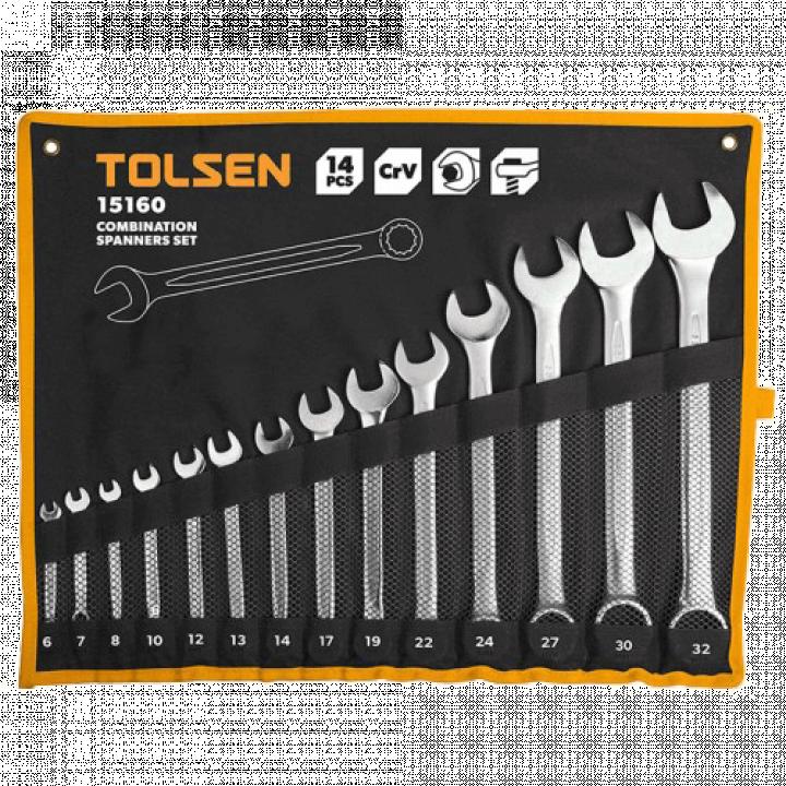 Bộ chìa khóa miệng - miệng Tolsen 15165