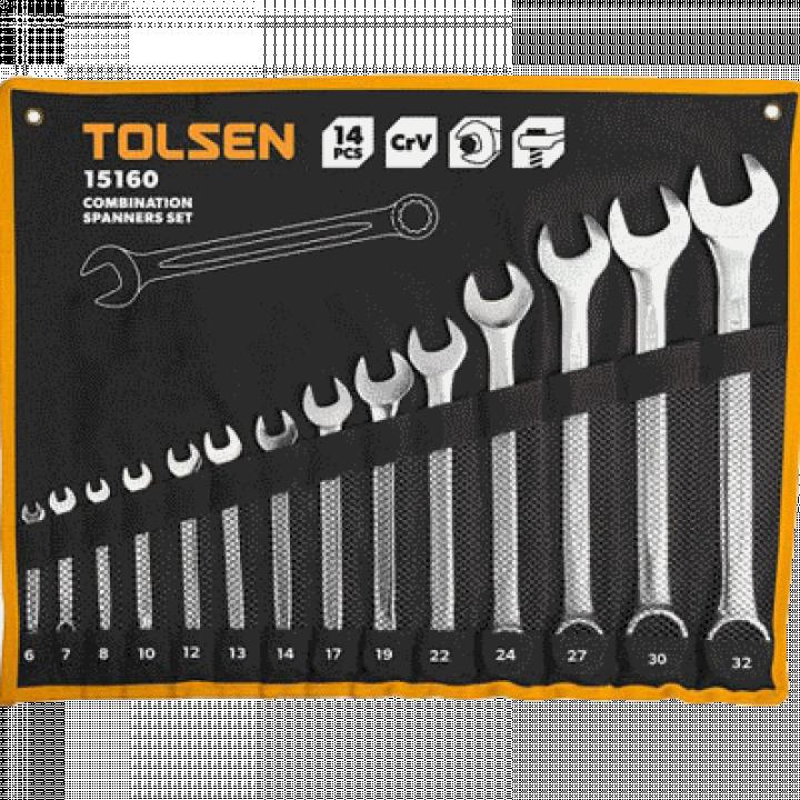 Bộ chìa khóa vòng - miệng Tolsen 15160