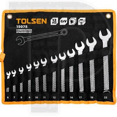 Bộ chìa khóa vòng miệng 12 cây Tolsen 15075
