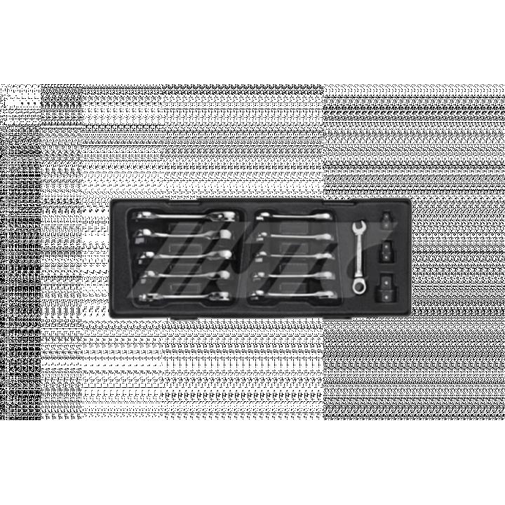Bộ cờ lê 01 đầu miệng, 01 đầu vòng tự động – 14 chi tiết JTC JTC-K6144
