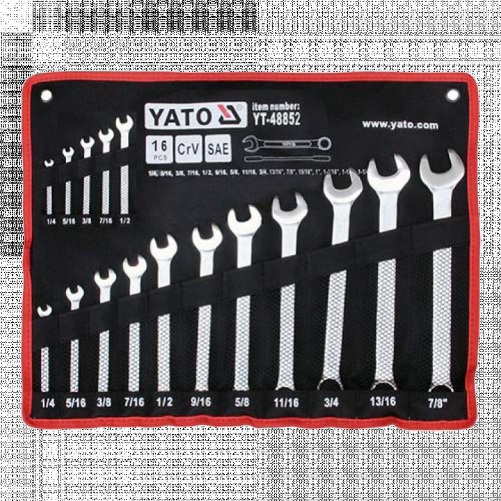 Bộ cờ lê vòng miệng 16PCS Yato YT-48852