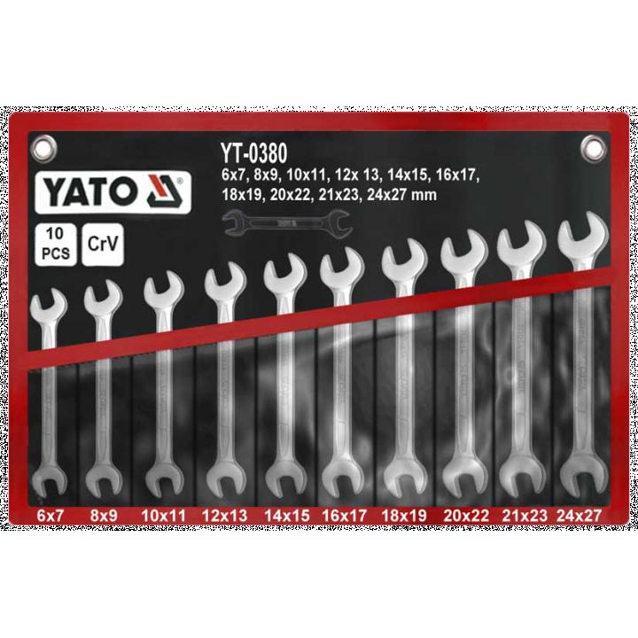 Bộ cờ lê 2 đầu miệng 10PCS Yato YT-0380