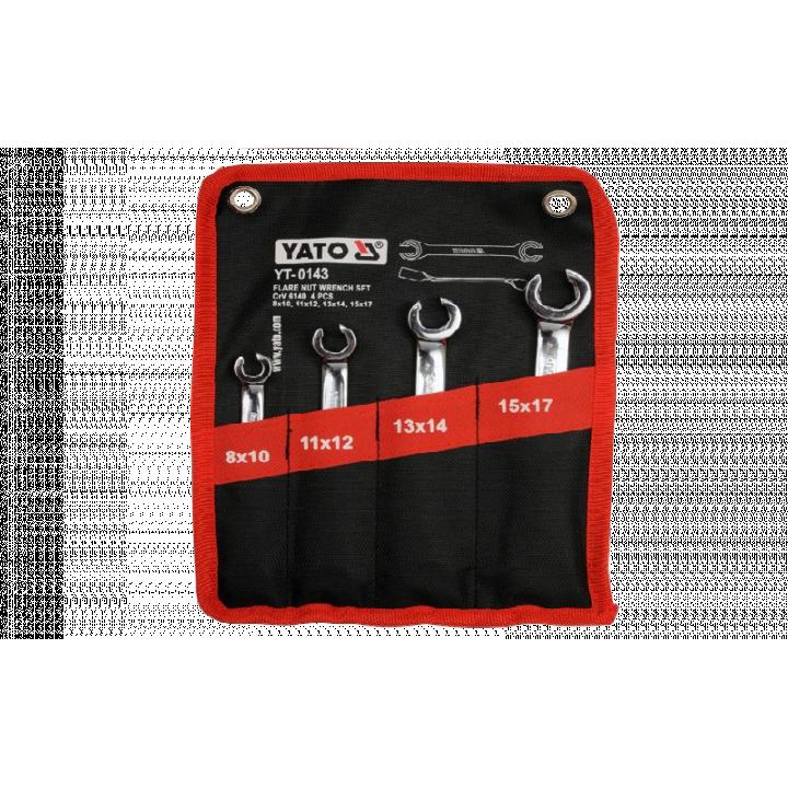 Bộ cờ lê 2 đầu miệng loe mở đai ốc 4PCS Yato YT-0143