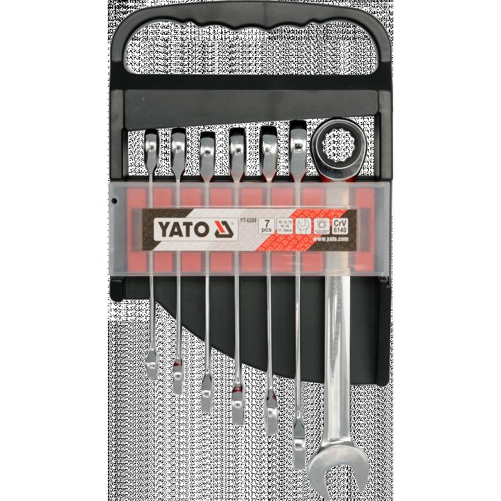 Bộ cờ lê vòng miệng tự động 7PCS Yato YT-0208