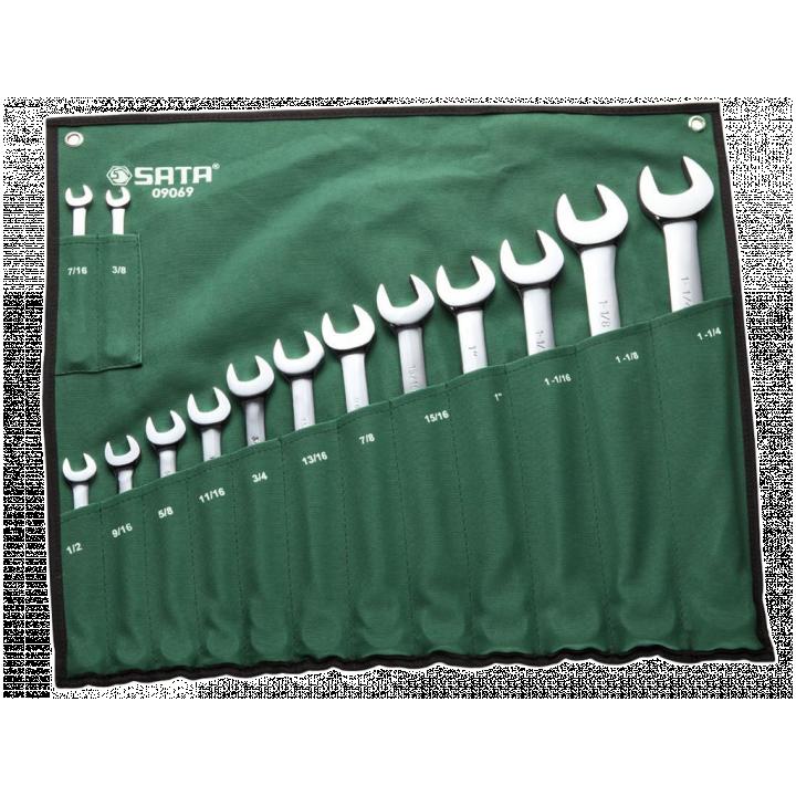 Bộ cờ lê vòng miệng 14 chi tiết SATA 09069