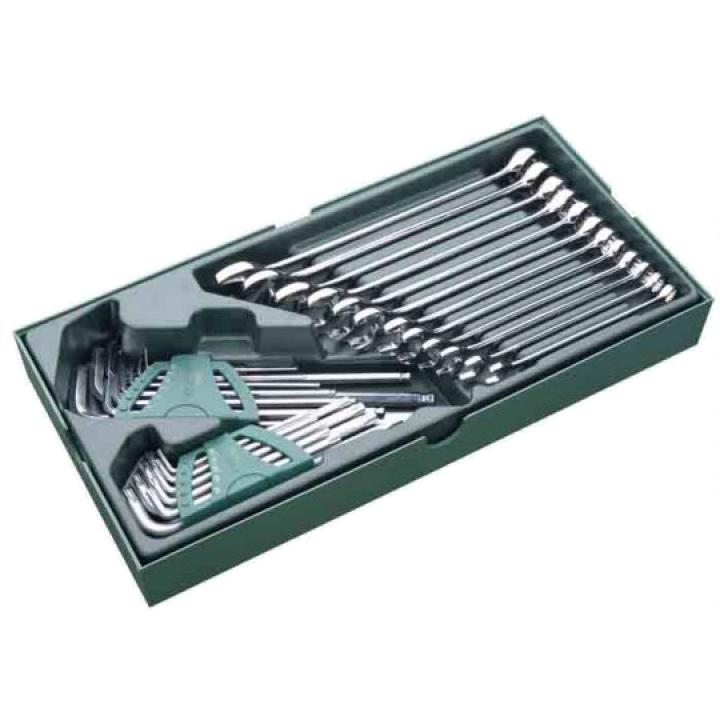 Bộ khay cờ lê vòng miệng và lục giác 30 chi tiết SATA 09906