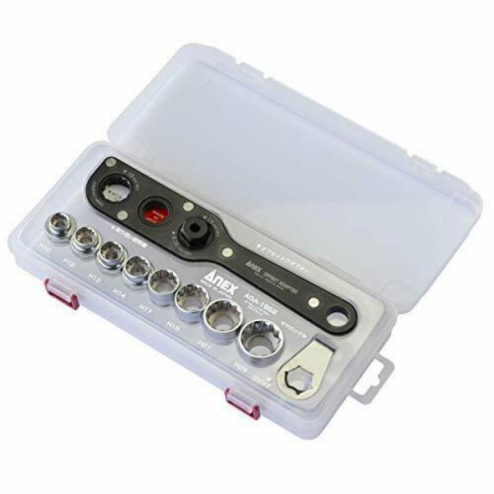 Bộ vặn ốc đa năng gồm cờ lê tự động 19mm và socket AOA-19S4 Anex