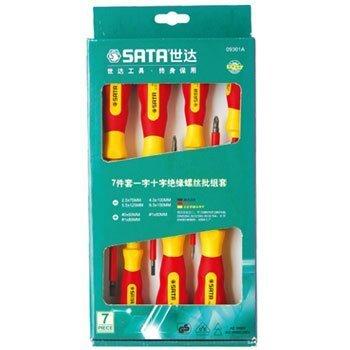 Bộ tuốc nơ vít cách điện 7 chi tiết SATA 09301A