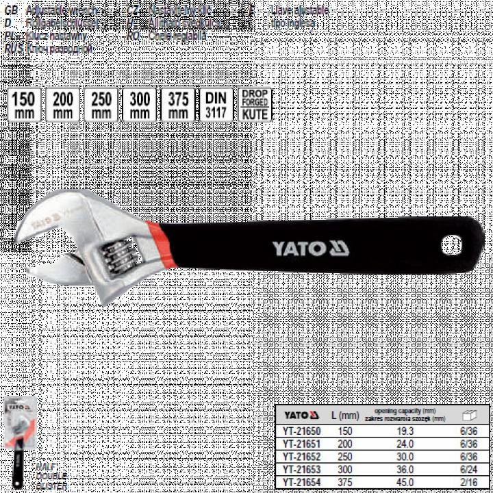 Mỏ lết hệ mét Yato YT-21652