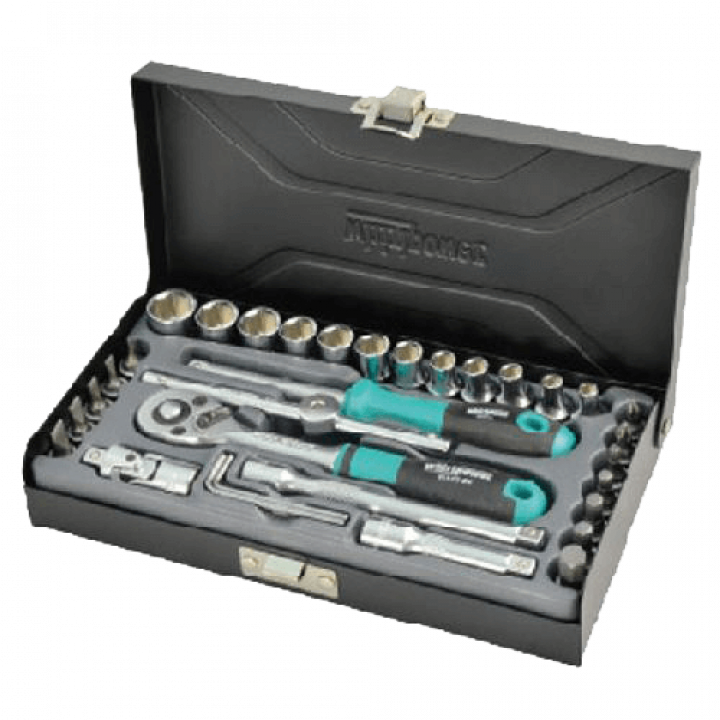 """Bộ khẩu 1/4""""-33 chi tiết Whirlpower 1612-0633 (từ 4-13mm-hộp nhựa)"""