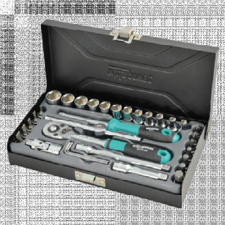 """Bộ khẩu 1/4""""-33 chi tiết Whirlpower 1612-0633S từ 4-13mm-hộp sắt"""