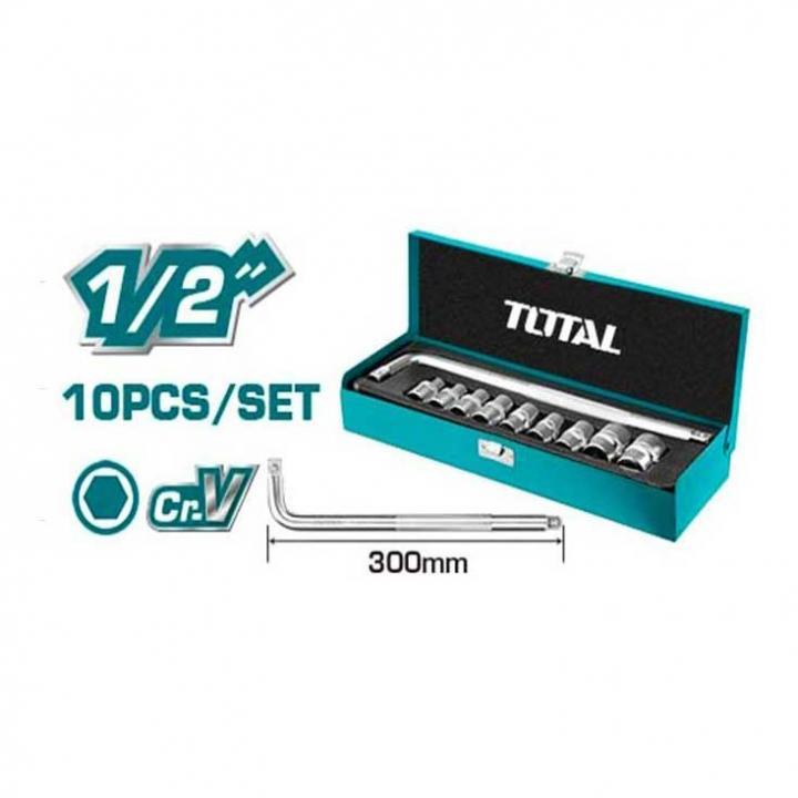 Bộ 10 đầu tuýp 1/2 inch Total THTL121101