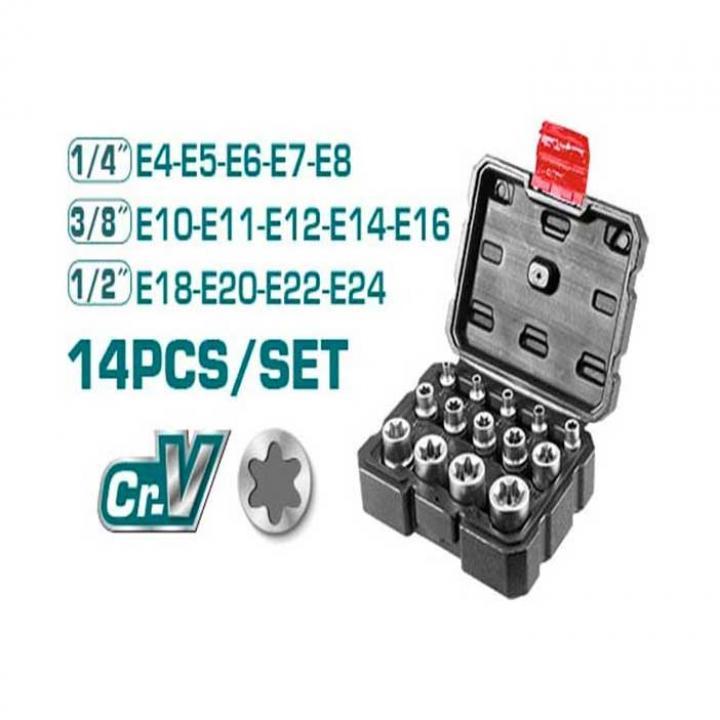 Bộ 14 đầu tuýp loại E Total THKTETS0114