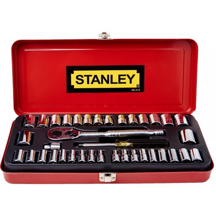 Bộ tuýp 1/4'' và 3/8'' 37 chi tiết Stanley 89-518