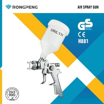 Súng phun sơn áp suất thấp 600cc RONGPENG H881