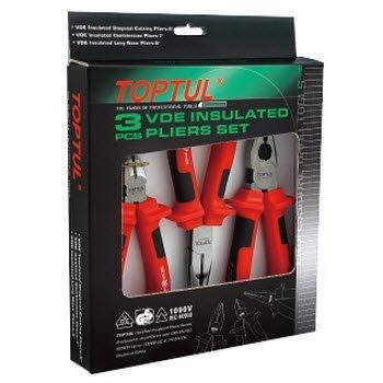Bộ kìm điện 3 chi tiết cách điện 1000V Toptul GAAE0301