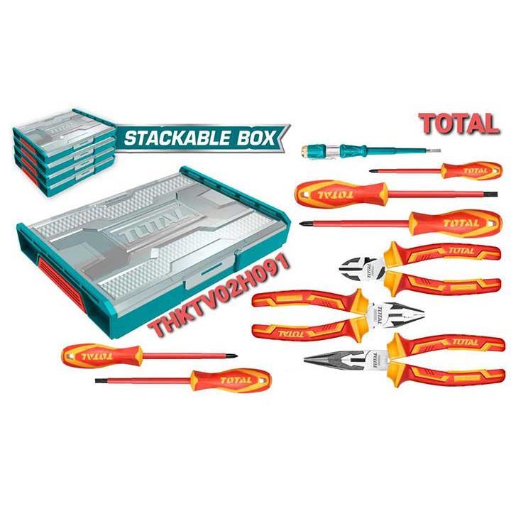 Bộ 9 công cụ cầm tay cách điện Total THKTV02H091