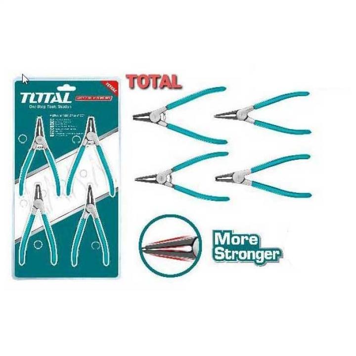 Bộ 4 kềm mở phe 180mm Total THTJ214042