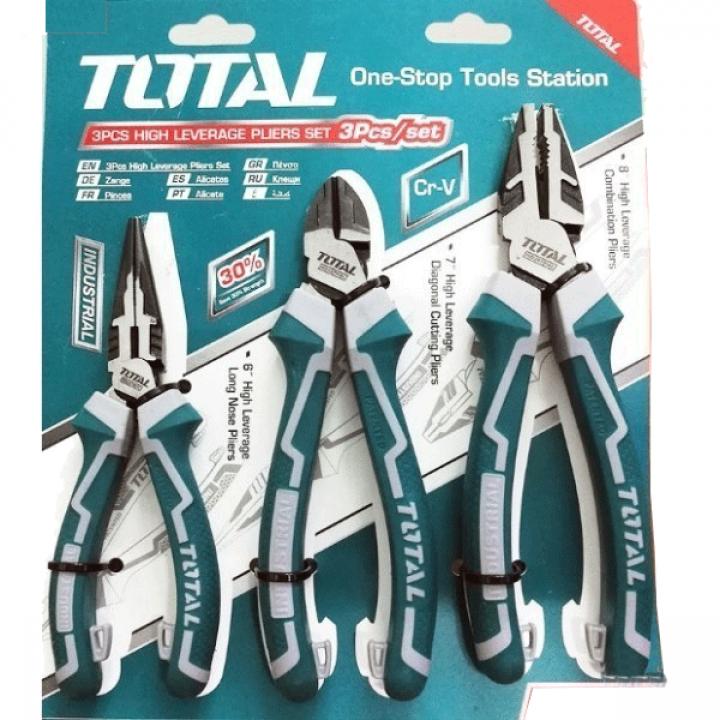 Bộ 3 Kìm răng, cắt và nhọn cao cấp Total THT2K0301S
