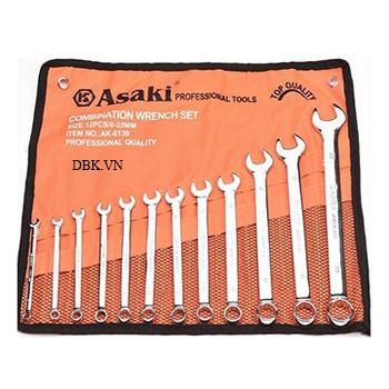 Bộ cờ lê vòng miệng xi bóng 12 cây Asaki AK-6139