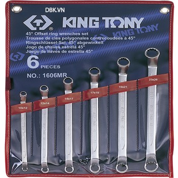 Bộ cơ lê hai đầu vòng 6 chi tiết 10x12mm Kingtony 1606MR1012
