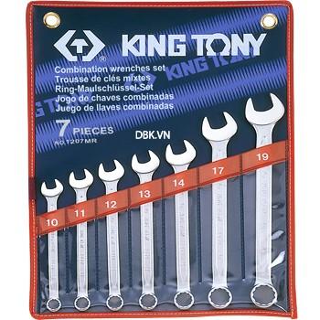 Bộ cờ lê vòng miệng 7 chi tiết 10-19mm Kingtony 1207MR