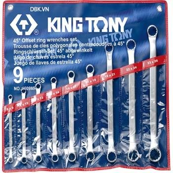 Bộ cơ lê hai đầu vòng 9 chi tiết 23x26mm  Kingtony 1609MR2326