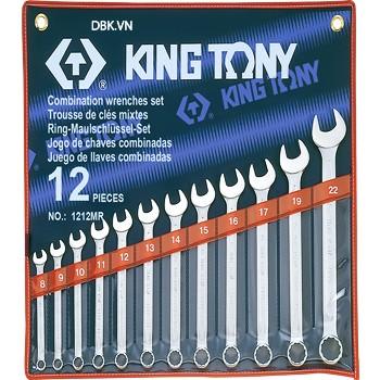 Bộ cờ lê vòng miệng 12 chi tiết 8-22mm Kingtony 1212MR