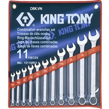 Bộ cờ lê vòng miệng 11 chi tiết Kingtony 1211SR01