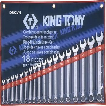 Bộ cờ lê vòng miệng 18 chi tiết 6-24mm Kingtony 1218MR01