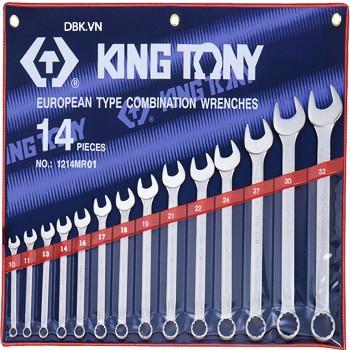 Bộ cờ lê vòng miệng 14 chi tiết 10-32mm Kingtony 1214MR01
